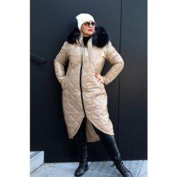 Cavaricci plus size molett hosszú női téli kabát