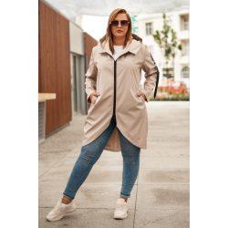 Cavaricci plus size molett női átmeneti tavaszi maxi kabát/dzseki