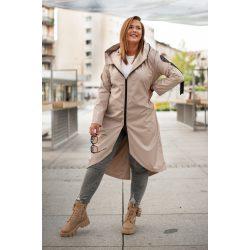 Cavaricci plus size molett női átmeneti tavaszi midi kabát/dzseki