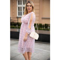 Cavaricci plus size molett női midi ruha