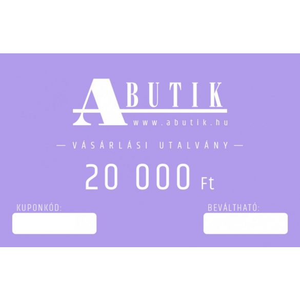 Vásárlási utalvány 20000 Forint értékben