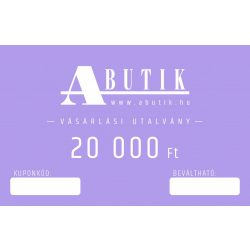 ONLINE ajándékutalvány 20000 Forint értékben