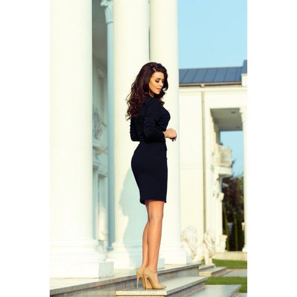 Fekete átmeneti kabát övvel Női ruha webáruház, női ruhák