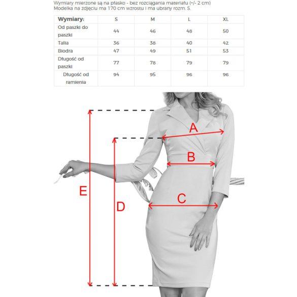 KELLY elegáns ruha nyakkivágással                                                          6
