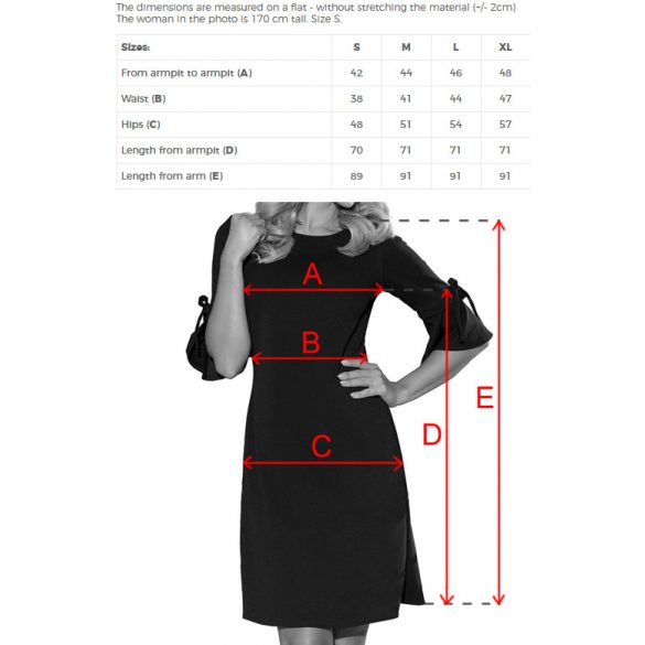 NEVA bővülő ujjú trapéz ruha                                                               7