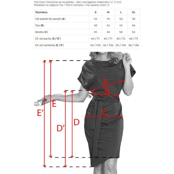 ruha asszimetrikus szoknyával és övvel                                                     6