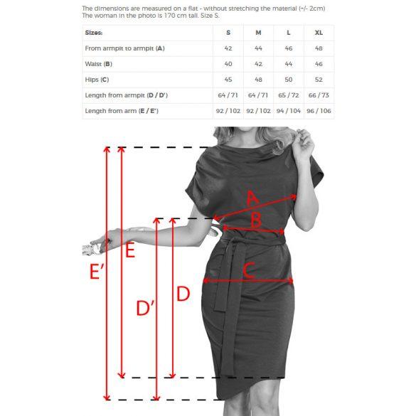 ruha asszimetrikus szoknyával és övvel                                                     7