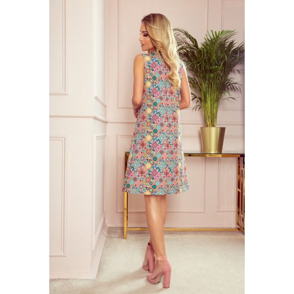 VICTORIA trapéz ruha színes mintával                                                       5