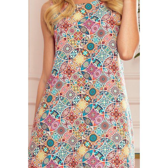 VICTORIA trapéz ruha színes mintával                                                       8