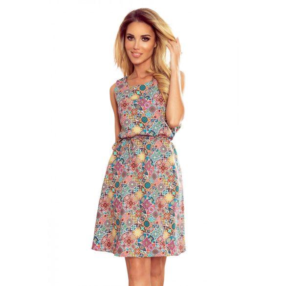 VICTORIA trapéz ruha színes mintával                                                       9