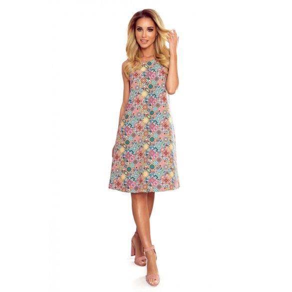 VICTORIA trapéz ruha színes mintával                                                       10