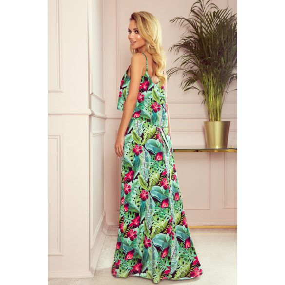 A oszályú pántos hosszú nyári ruha                                                         1