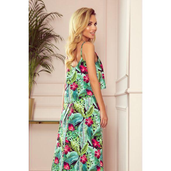 A oszályú pántos hosszú nyári ruha                                                         3