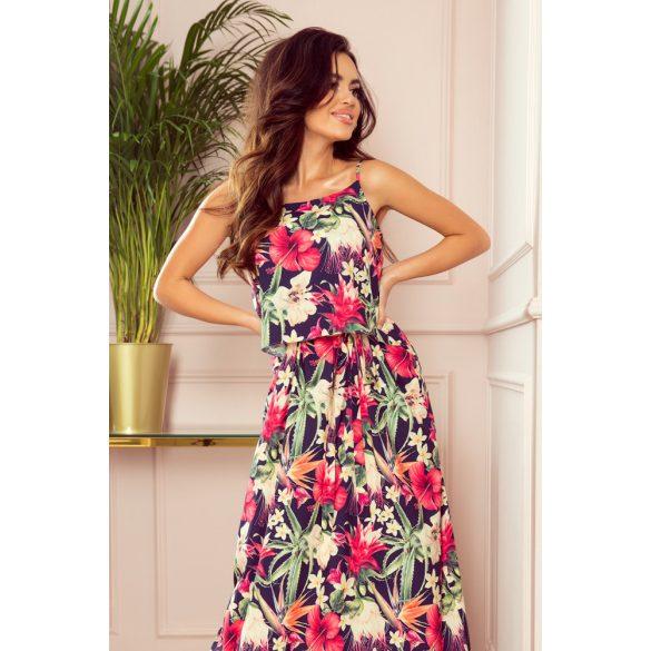 A oszályú pántos hosszú nyári ruha                                                         2