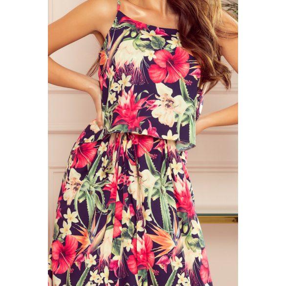 A oszályú pántos hosszú nyári ruha                                                         4