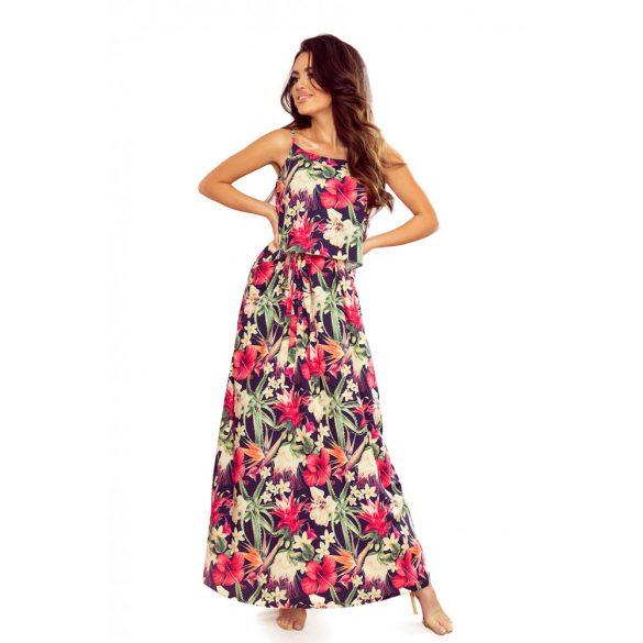 A oszályú pántos hosszú nyári ruha                                                         5
